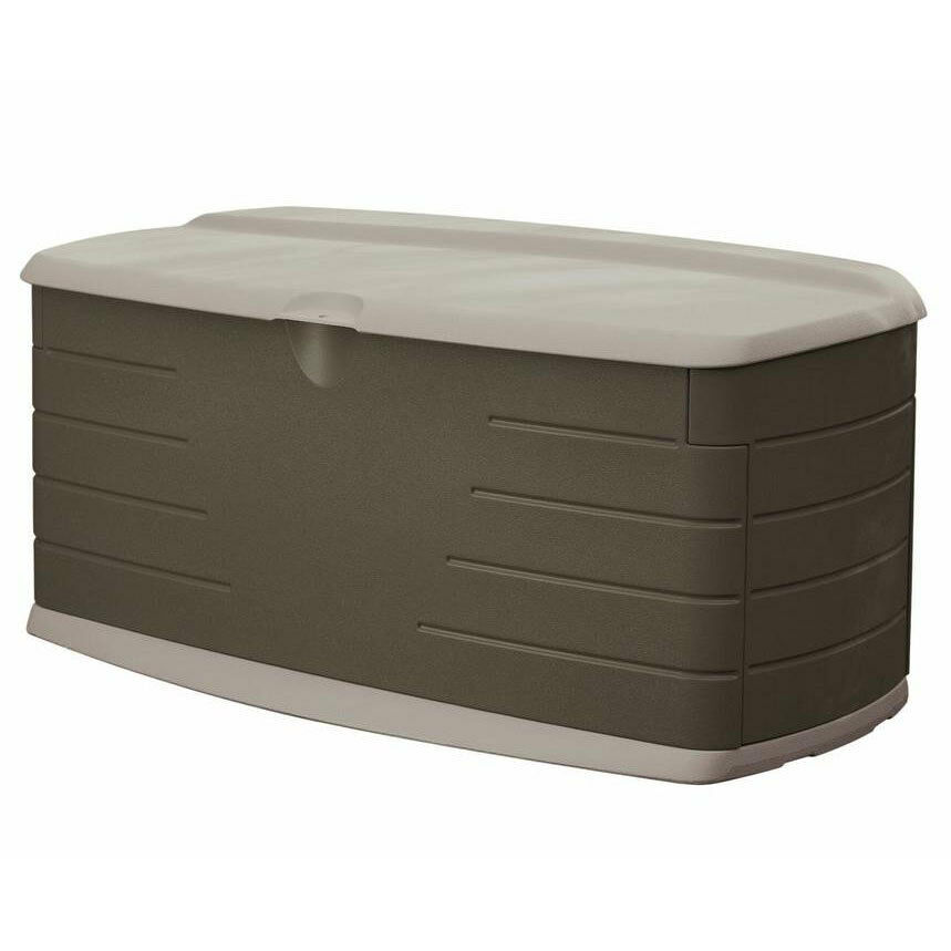 90 Gal Deck Box W Seat Outdoor Garden Yard Patio