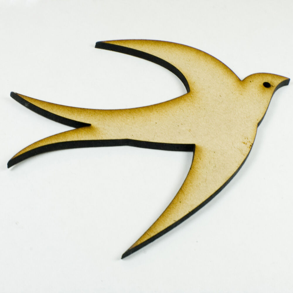 mdf wood wooden shape shapes bird cutout for craft home room