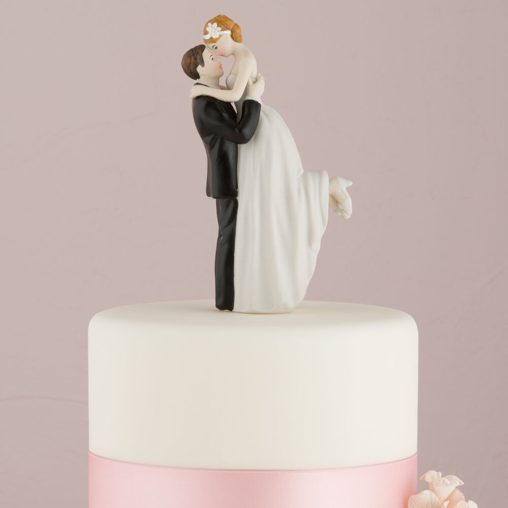 "Bride Wedding Cake Topper: ""True Romance"" Bridal Couple Wedding Cake Topper"