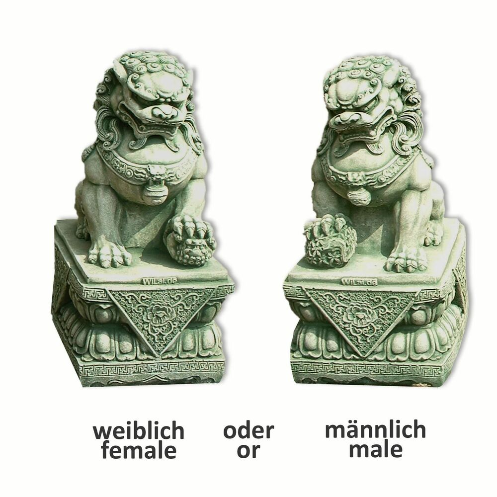 chien fu foo lion chinois thailande statue feng shui d co ext rieure 10109 ebay. Black Bedroom Furniture Sets. Home Design Ideas