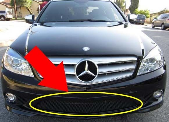 Mercedes w204 c300 c350 bumper cover grille center front for Mercedes benz c300 grill