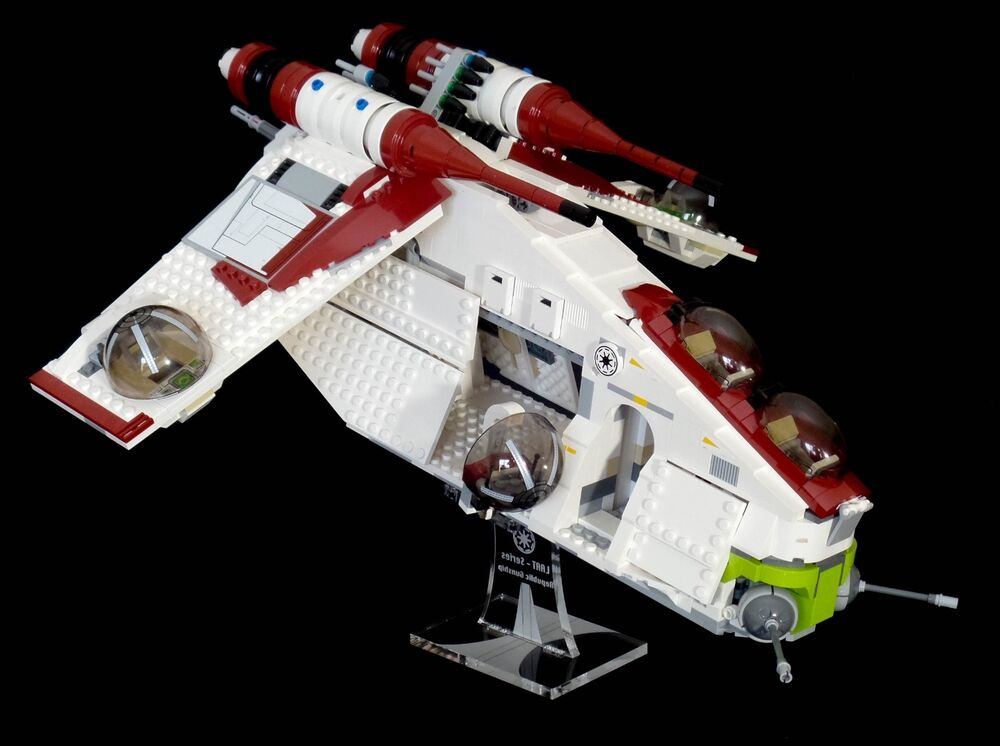 star wars lego 75021 republic gunship custom display stand only ebay. Black Bedroom Furniture Sets. Home Design Ideas