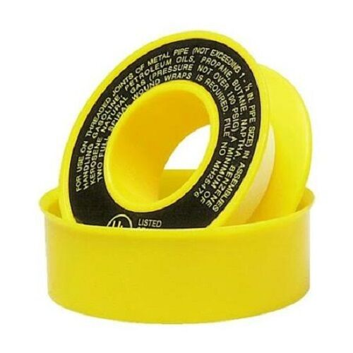 1 2 Quot X 260 Quot Yellow Teflon Tape Ptfe Gas Pipe Thread Seal