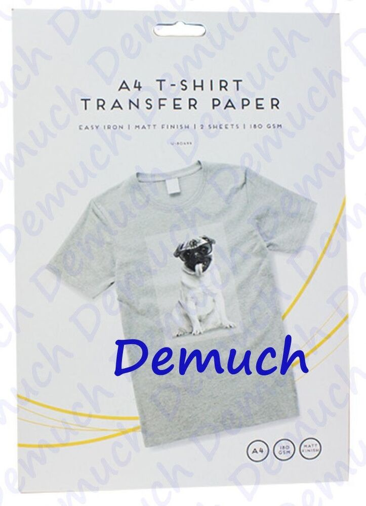 2 pack a4 iron on t shirt transfer paper for light fabrics for T shirt transfer paper for dark fabrics