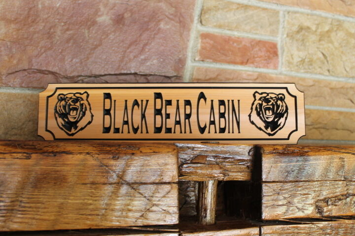Personalized signs carved wood plaque custom trail garden for Beach cabin decor