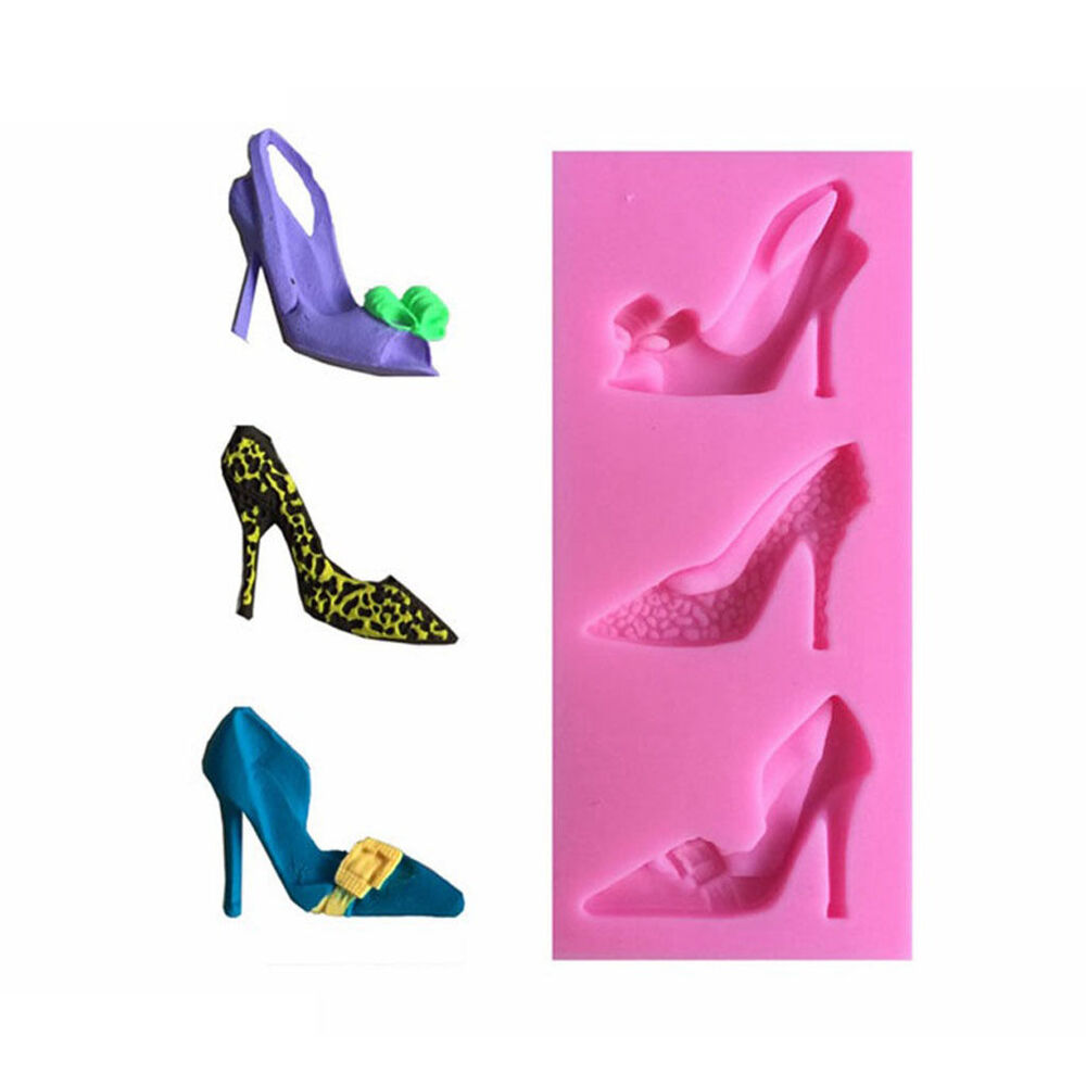 3d high heel shoes silicone mould cake decorating