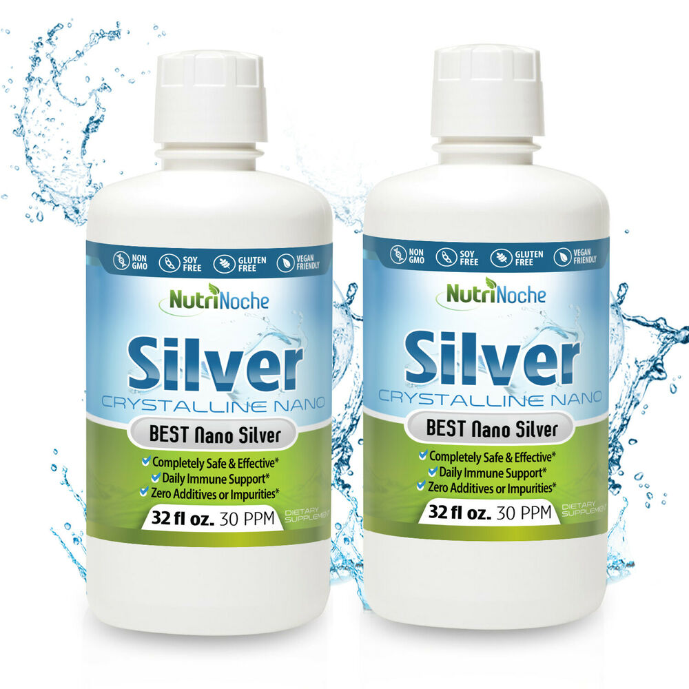 Nutrinoche Colloidal Nano Silver 64 Oz 30 Ppm Two 32oz