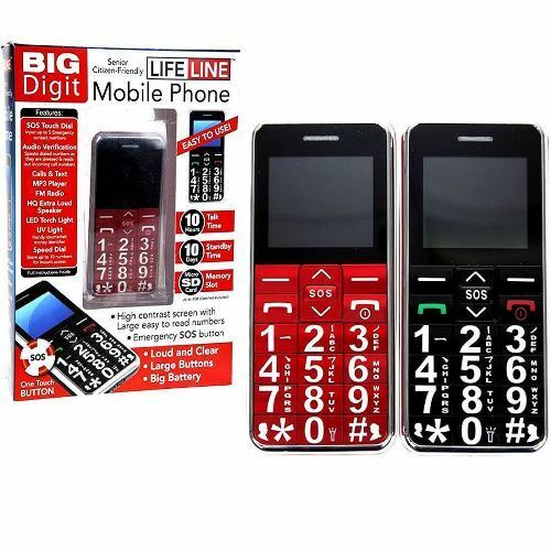 big digit mobile phone with large digits sos button unlocked senior citizen gift ebay. Black Bedroom Furniture Sets. Home Design Ideas