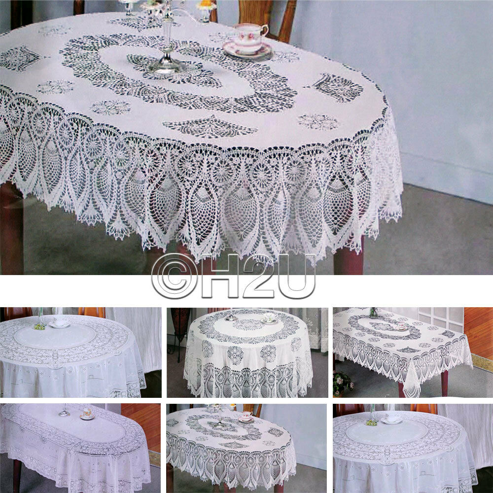 Vinyl Decoration Table : Vinyl table cloth wipe clean home decor cover embossed