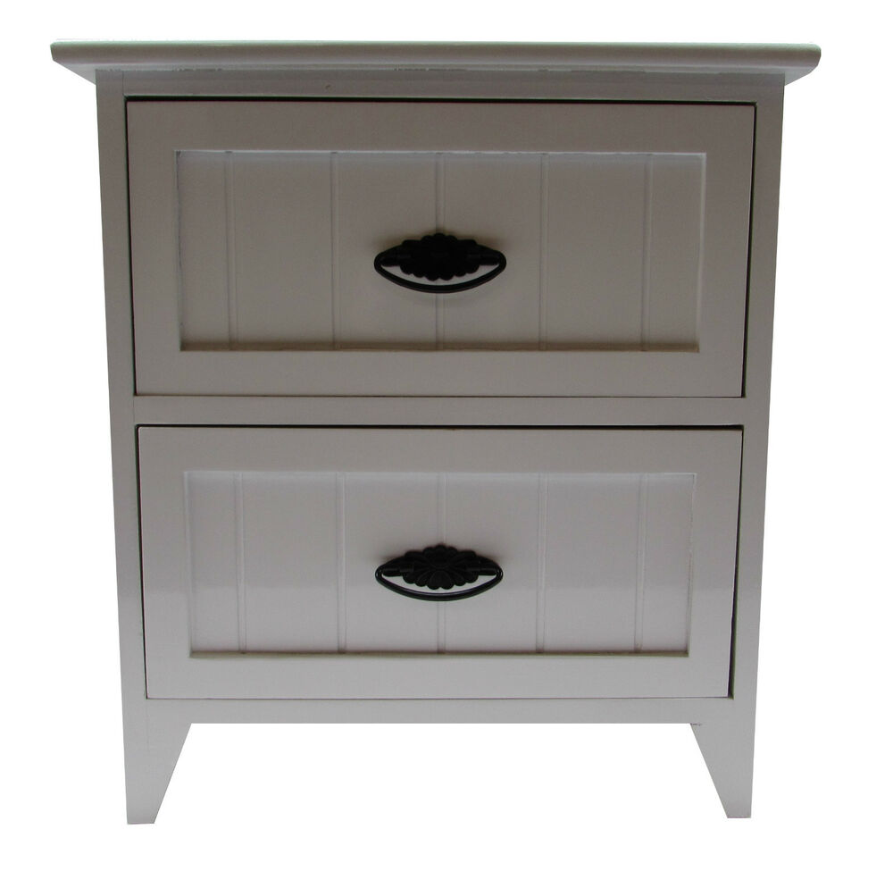 2 drawer modern white gloss wooden small bedside table for White wooden bathroom drawers