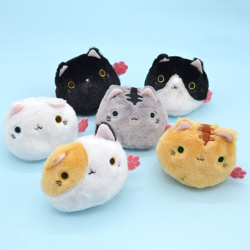 Plush Stuffed Animal Toys : Pc cartoon animal cat soft plush toy doll mini kids