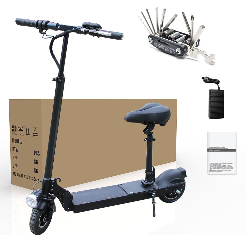350w Electric Battery Powered Folding Scooter With Seat