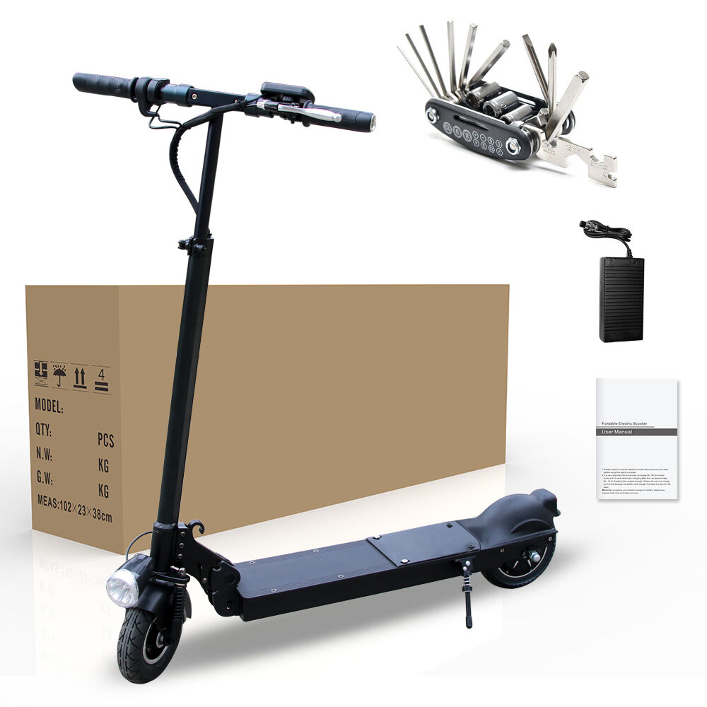 350w electric battery powered folding scooter motorized bike foldable e scooter ebay. Black Bedroom Furniture Sets. Home Design Ideas