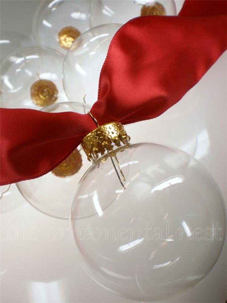 Crystal clear glass ball tree christmas craft ornaments