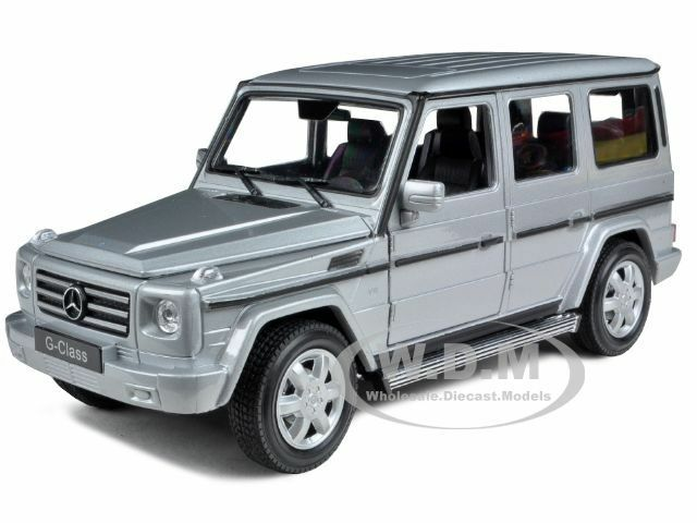 mercedes g wagon class silver 1 24 diecast model car by welly 24012 ebay. Black Bedroom Furniture Sets. Home Design Ideas