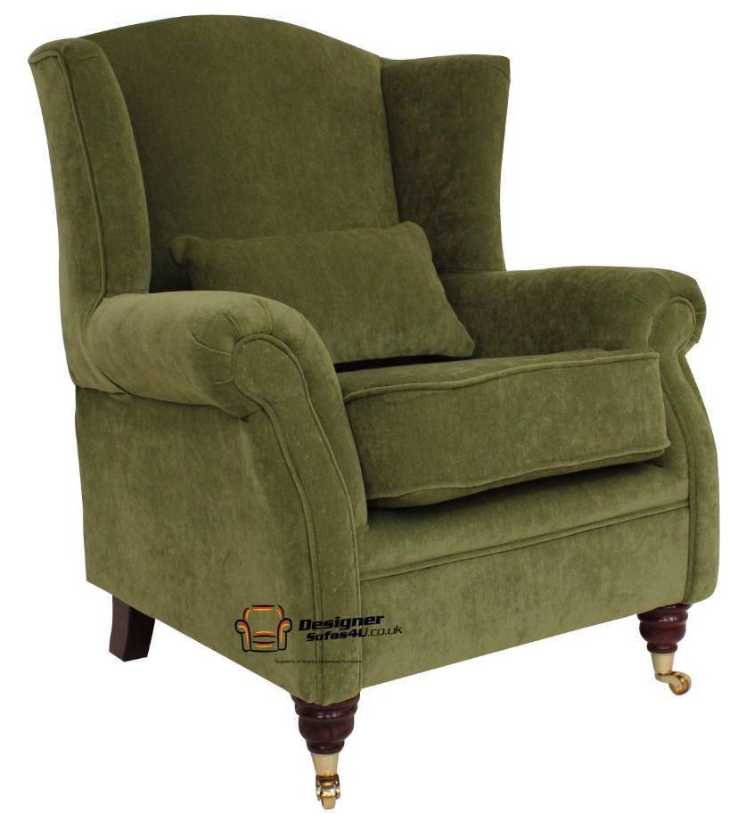 Ashley Fireside High Back Wing Armchair Pimlico Sage Green
