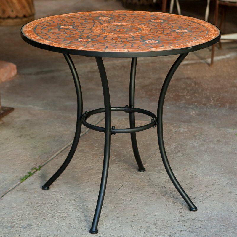 Mosaic bistro table indoor outdoor home kitchen dining for Garden patio table