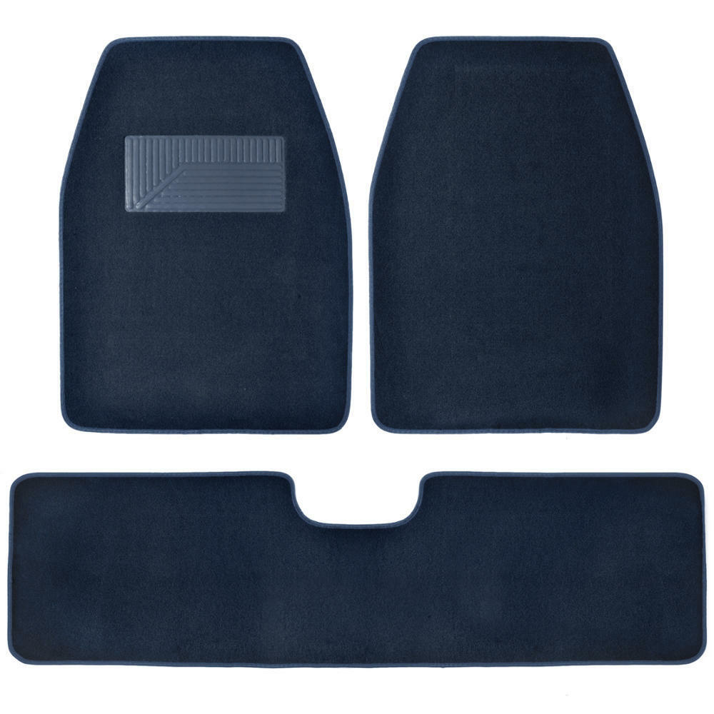 Blue Carpet Car Floor Mats For Van Truck Suv 3pc Front