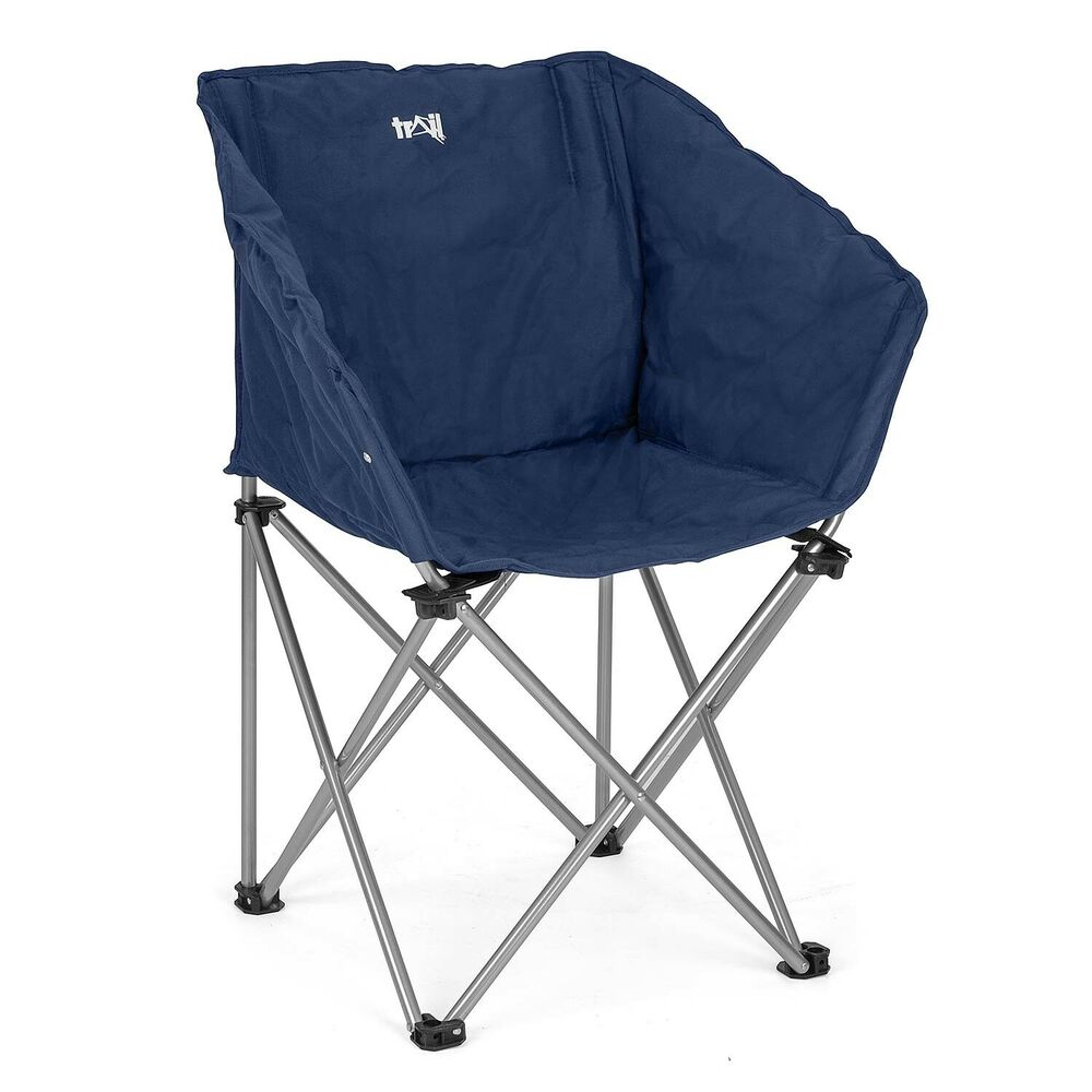 Folding Camping Chair Portable Padded Tub Seat Outdoor