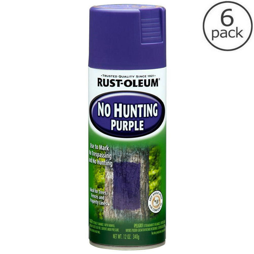 6 pack rust oleum 12 oz purple outdoor spray paint no hunting no trespassing ebay Outdoor spray paint