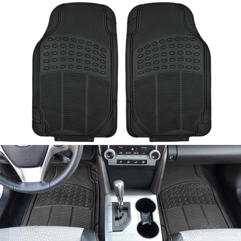 Auto Floor Mats 2pc Front Liners Black All Season
