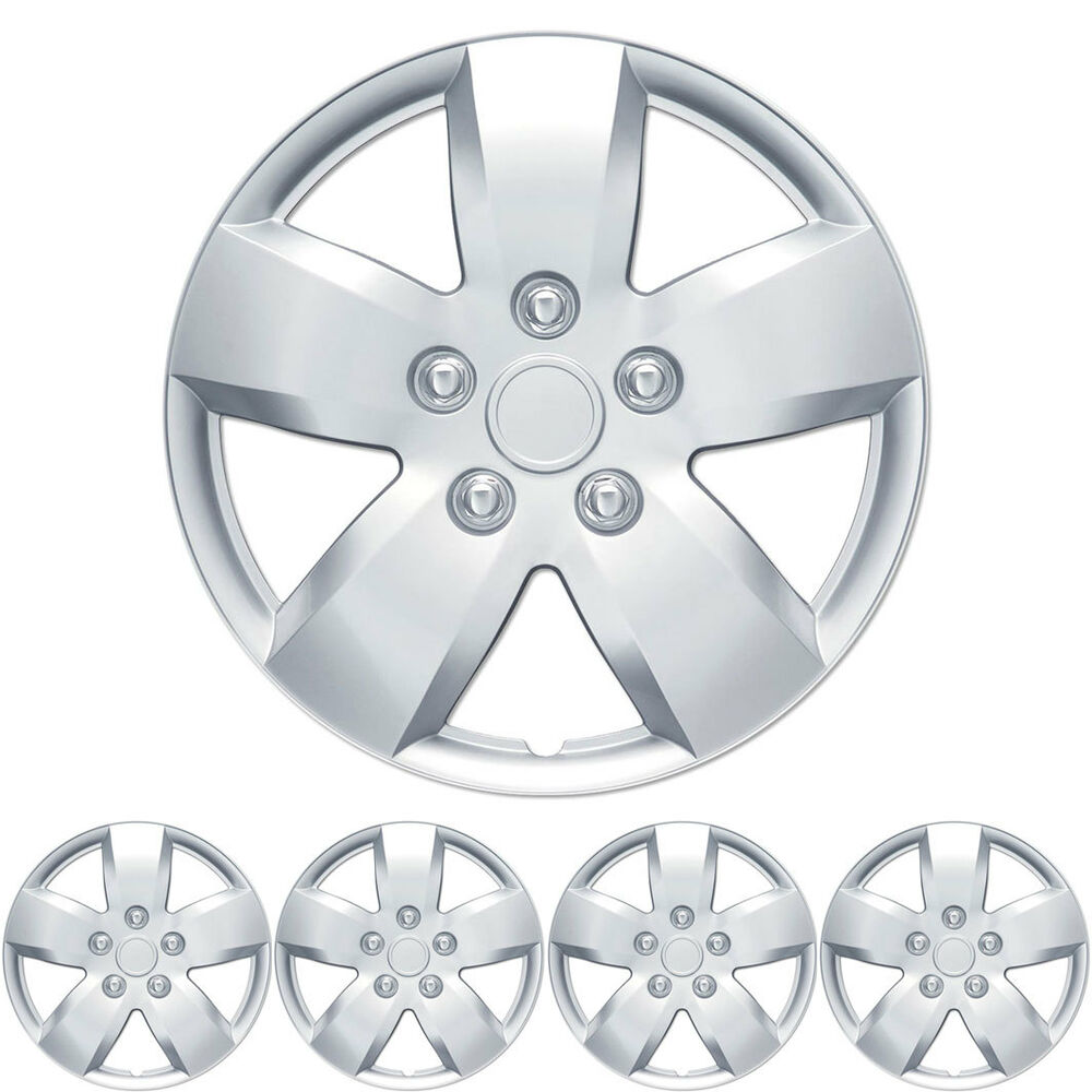 """4 PC Set 16"""" Silver Hubcaps Wheel Cover OEM Replacement"""