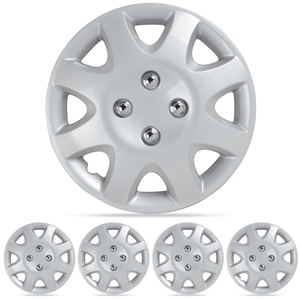 wheel covers fit 95 01 honda civic hubcaps 4pc silver 14. Black Bedroom Furniture Sets. Home Design Ideas