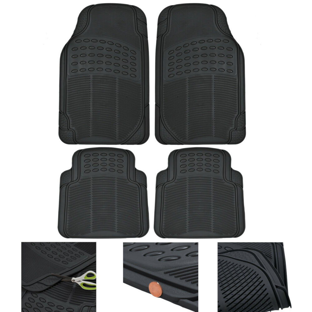 MotorTrend Car Floor Mats 100% Odorless Rubber All Weather