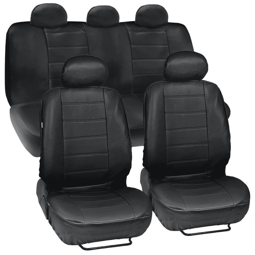 PU Synthetic Leather Black Seat Cover Car Genuine Leather