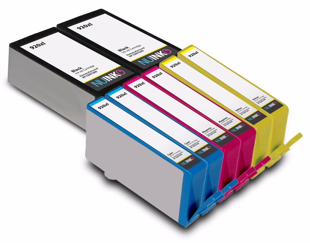 8pk replacement hp 920xl ink cartridge for hp officejet 6500 6500a 7500a 6500a ebay. Black Bedroom Furniture Sets. Home Design Ideas