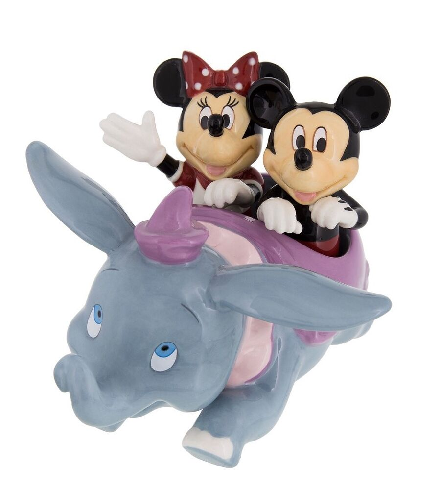 disney parks dumbo with mickey minnie salt and pepper. Black Bedroom Furniture Sets. Home Design Ideas