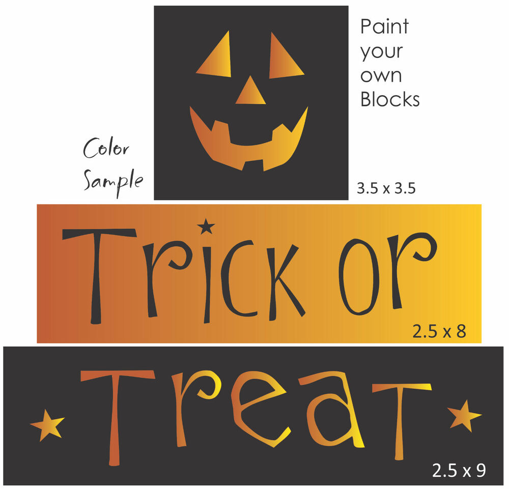 Joanie stencil trick treat jack face pumpkin halloween for Trick or treat pumpkin template