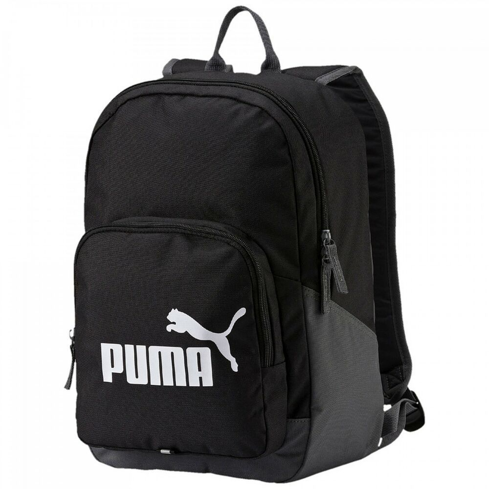 puma phase backpack rucksack freizeitrucksack damen herren black schwarz neu ebay. Black Bedroom Furniture Sets. Home Design Ideas
