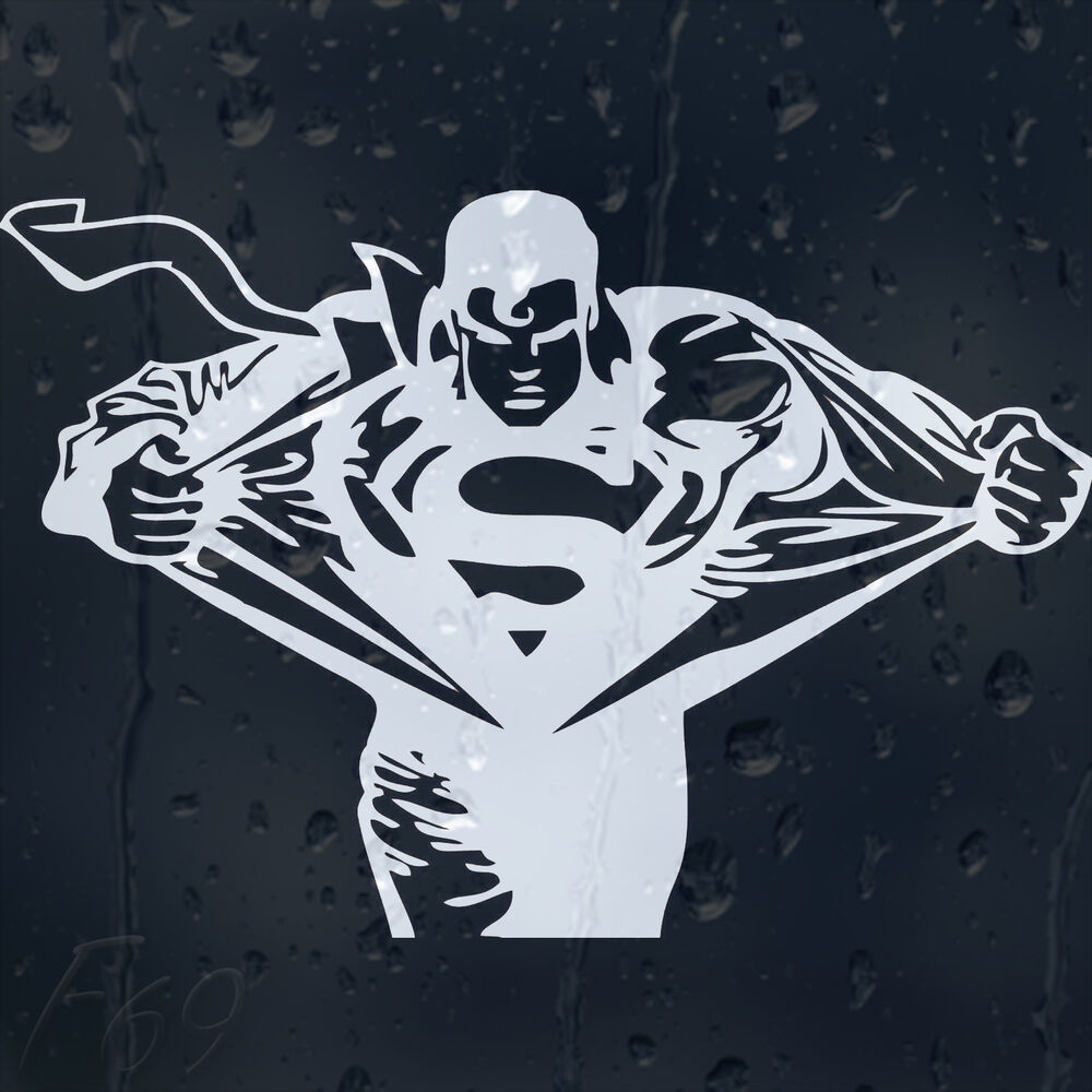 Details about superman car decal vinyl sticker for window or bumper or panel