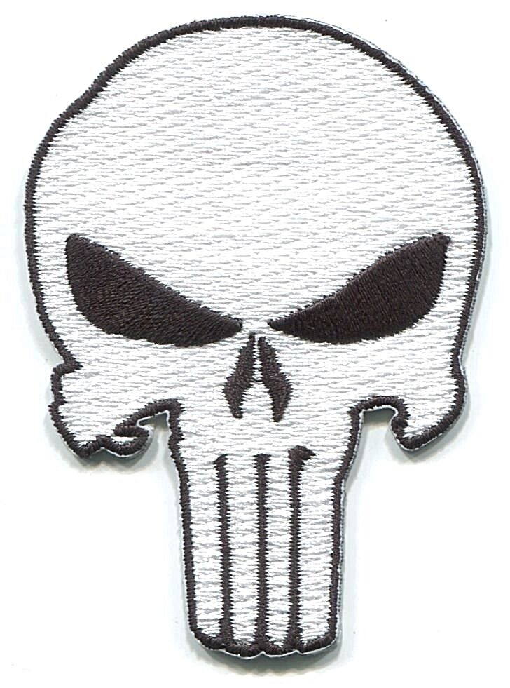 PUNISHER skull EMBROIDERED IRON-ON PATCH marvel, army ...