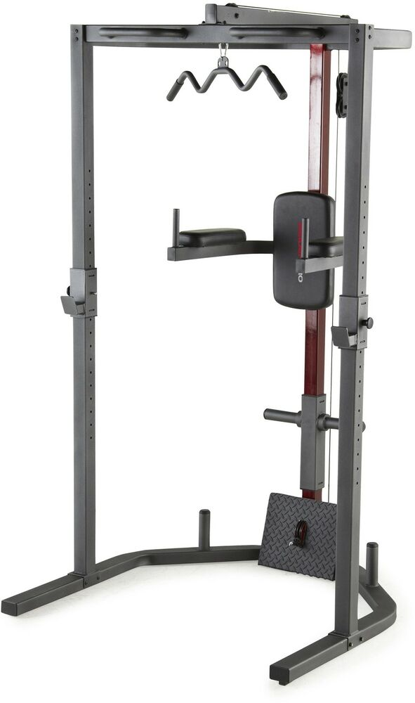 Power Rack Cap Strength Home Gym Total Body Weight Trainer Workout System Pro Ebay