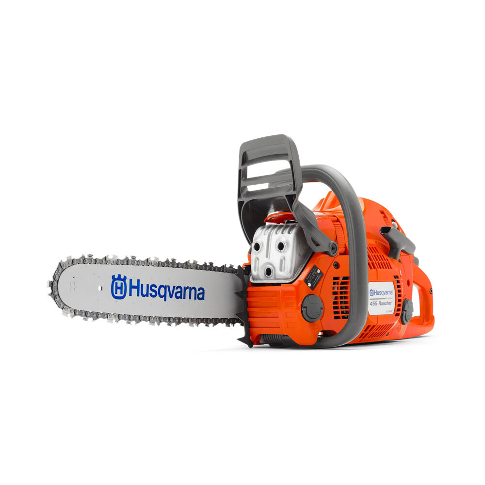 new husqvarna 455 rancher gas powered chainsaw 18 bar 68dl 050 chain 24761034548 ebay. Black Bedroom Furniture Sets. Home Design Ideas