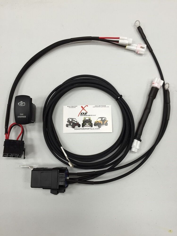 Yamaha Yxz 1000 Fan Override Wiring Harness Kit