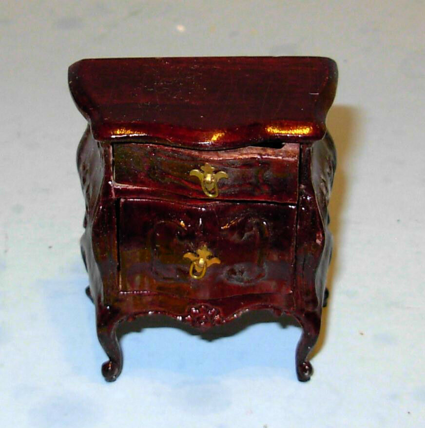 BESPAQ MAHOGANY VICTORIAN NIGHT STAND DOLLHOUSE FURNITURE