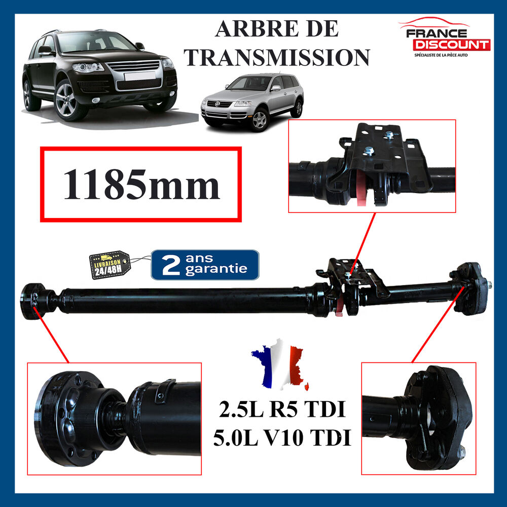 arbre de transmission longitudinal neuf vw touareg 2 5 r5 tdi 02 10 1185mm ebay. Black Bedroom Furniture Sets. Home Design Ideas