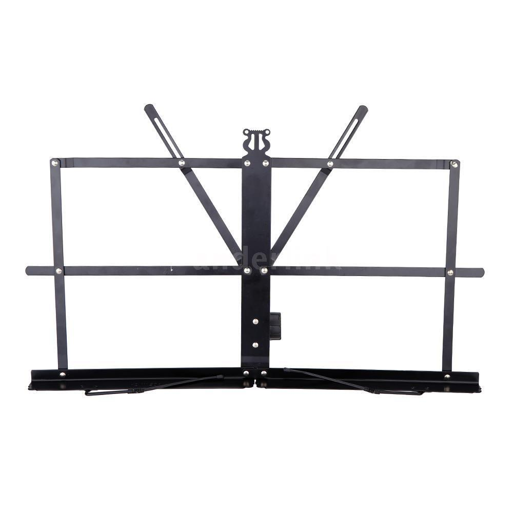 tabletop music stand metal sheet music holder folding foldable n7i5 ebay. Black Bedroom Furniture Sets. Home Design Ideas