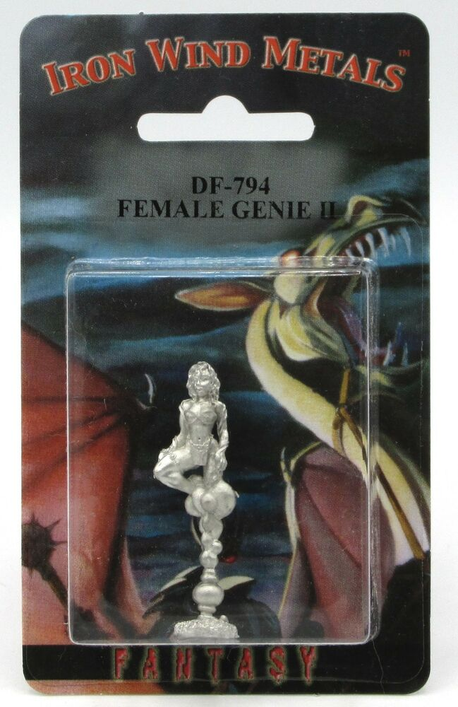 1983 Vintage Ral Partha 2 25 Cyclops Pewter Figure Statue: Ral Partha DF-794 Female Genie II (1) Miniature Djinn