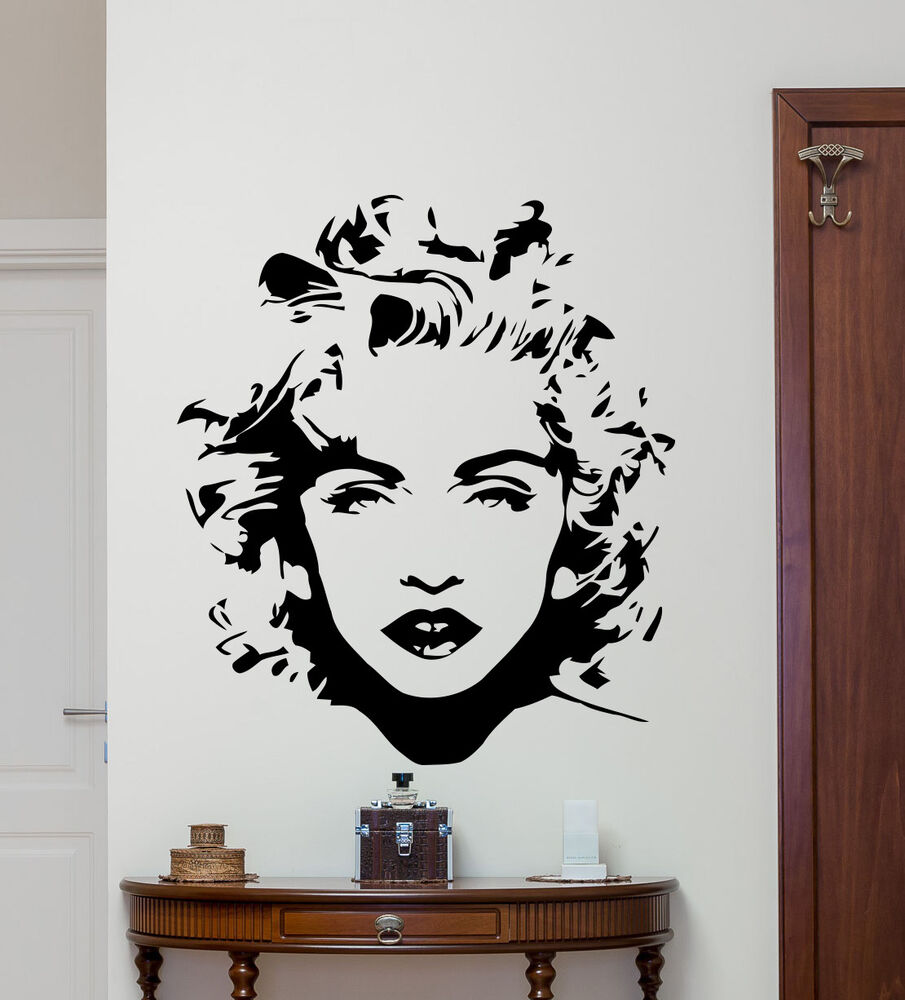 Madonna wall decal celebrity pop music vinyl sticker art for Decor mural wall art