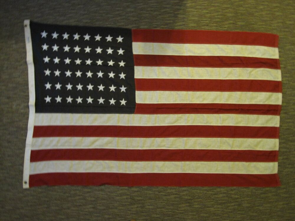 midwest flag antique 48 star red white black not blue american flag ww2 1816