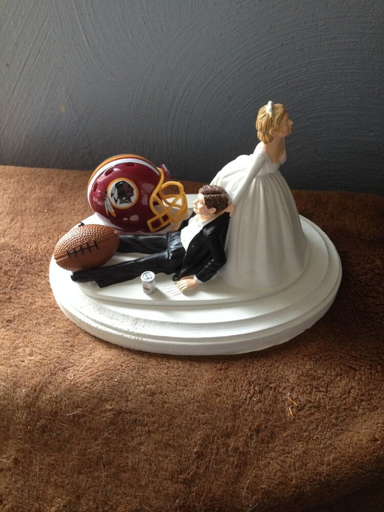 funny cake toppers washington redskins cake topper groom wedding day 4424