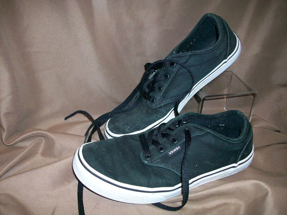 b787e9845a Details about  USED  VANS OFF THE WALL KIDS YOUTH SIZE 6 SKATEBOARD SHOES  BLACK (NEED REPAIR)