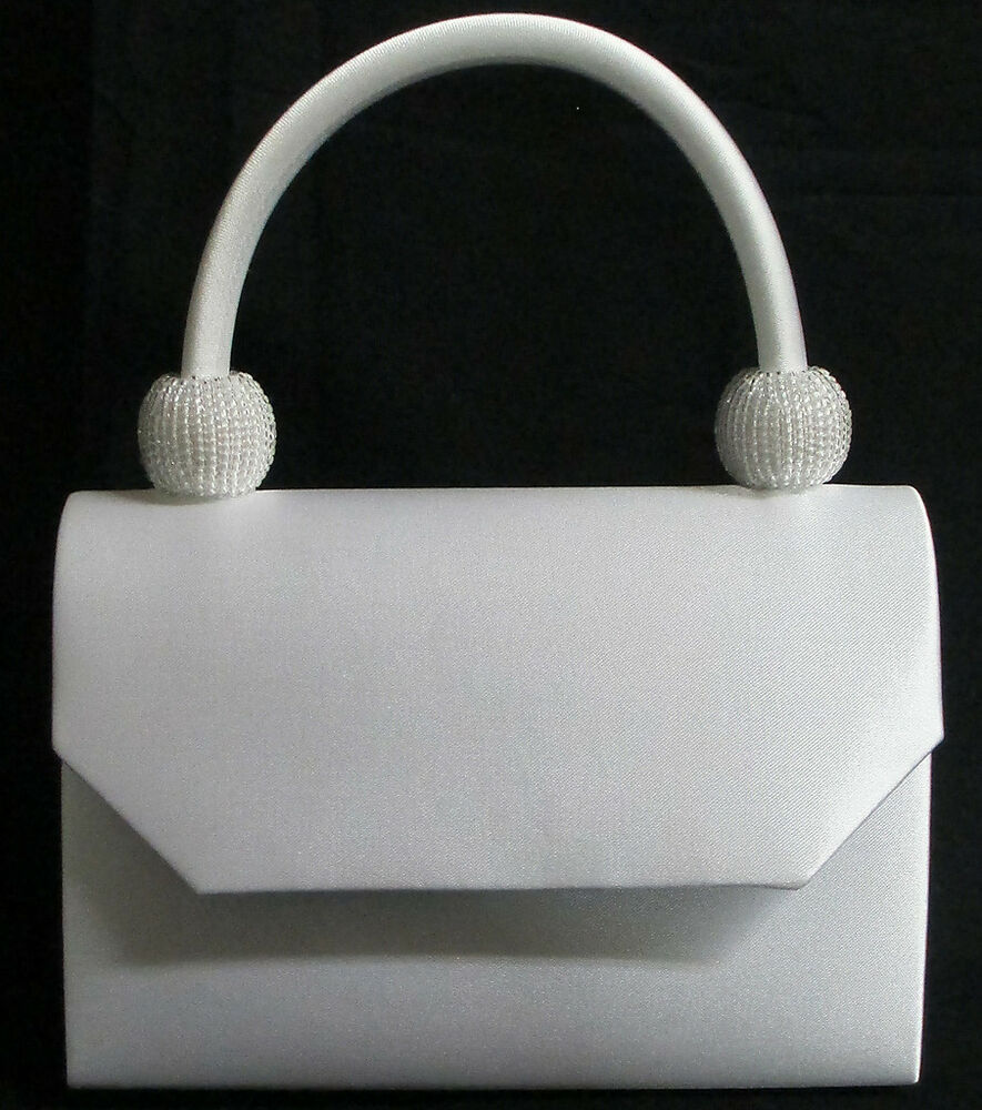 Brand New White Evening Clutch / Purse Prom Formal Vintage *Free Shipping*   EBay