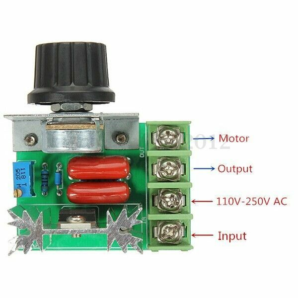 2000w Adjustable Ac 50 220v 25a Scr Motor Speed Controller