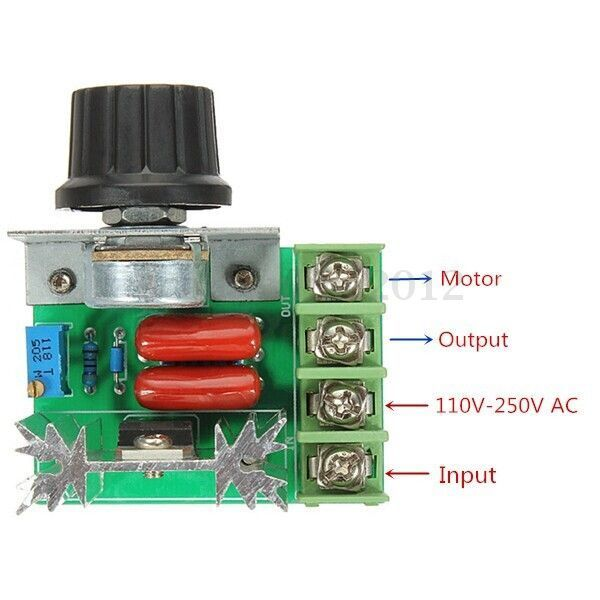 2000w adjustable ac 50 220v 25a scr motor speed controller Speed control for ac motor