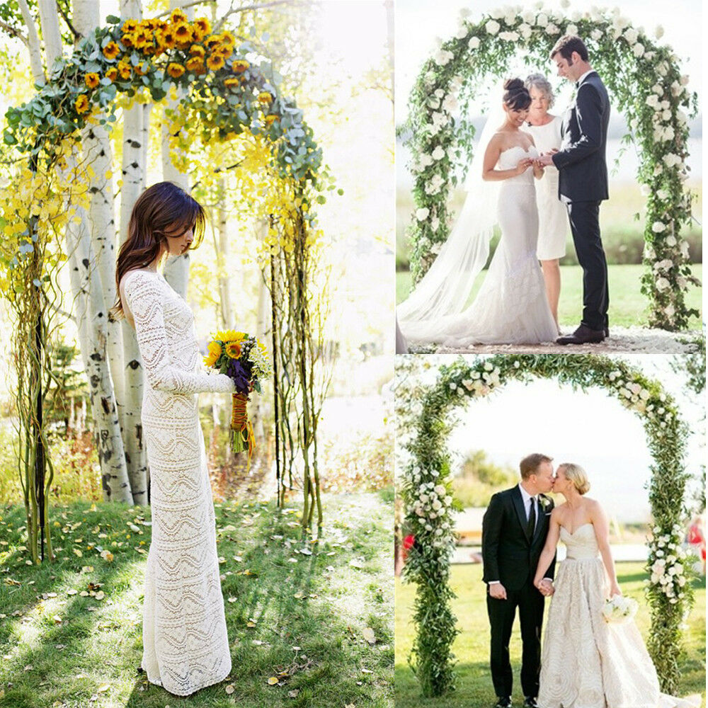 pictures of decorated arches for weddings 7 9 ft metal wedding arch for prom garden 6510